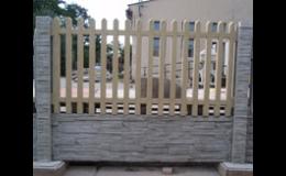 stavba betonového plotu Pohořelice