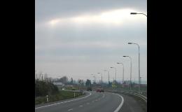 Ocelové sloupy veřejného osvětlení Břeclav