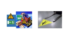 Podlahové značení vyráběné na zakázku