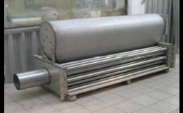Základní rozměrová řada plynových ohřívačů Izogas