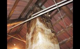 Rekonstrukce komínů za pomoci frézování je rychlé a efektivní.