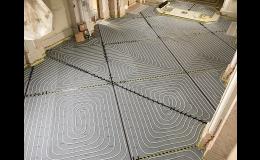 montáž podlahového topení v kostele