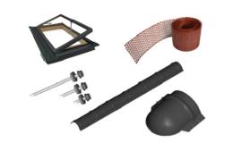 Prodej střešních materiálů včetně příslušenství