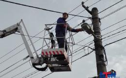 Výškové elektropráce na montážní plošině