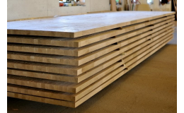 Production of edge-glued panels, furniture from glued boards, the Czech Republic