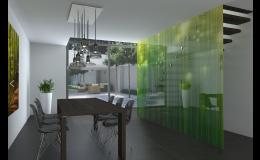 Sklenené obklady, zásteny, deliace steny, potlač na sklo - Zlínsky kraj
