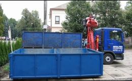 Přistavění kontejneru přímo na místo