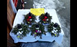 Adventní, vánoční věnce, vazby a dekorace Vsetín, Valašské Meziříčí