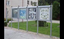 Městský mobiliář - sestava vitrín