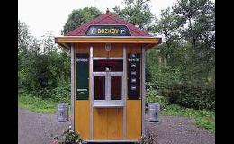 Městský mobiliář - pokladna pro hlídaná parkoviště