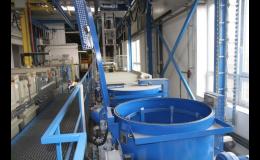 Galvanovna společnosti GALVA s.r.o., kde probíhá zinkování i fosfátování