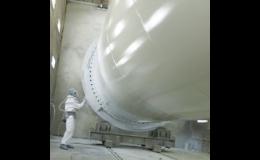Průmyslová lakovací technika se vzduchový pohonem z Liberce