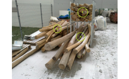 frézované akátové kůly - na prodej různé délky