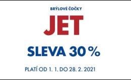 Slevy na vysoko indexové brýlové čočky JET 30%