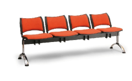 Čalouněné lavice do čekáren - čtyřsedák