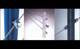 Lankový systém pro bezúdržbové konstrukce, zábradlí, výlohy, záclony Ostrava
