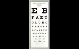 Oční přístroje optotyp