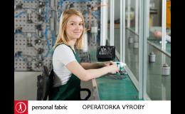 Nabídka práce pro operátorky do výroby