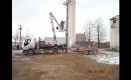 Výstavba veřejného osvětlení Dobřichovice - montáže i opravy, kontaktní místo ČEZ