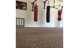 Gumové desky na podlahy - barevný melír až do 70 %, pro posilovny, fitness i na ven