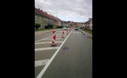 Přechodné dopravní značení Olomouc, Brno, Prostějov