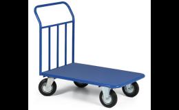 Plošinový vozík s plechovou ložnou plochou pro těžký náklad Ostrava