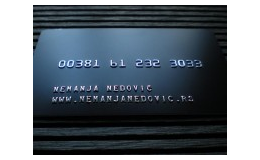 Production and printing of plastic cards with contact and contactless chips Czech Republic