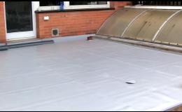 hydroizolační fólie Fatrafol - aplikace na terase