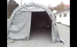 montované plachtové garáže