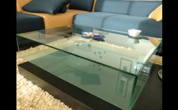 Skleněné stoly konferenční – výroba na míru Praha