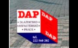 DAP a.s. se sídlem v Praze - opravy a výstavby vozovek
