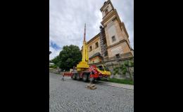 Jeřábnické práce s autojeřáby Olomouc