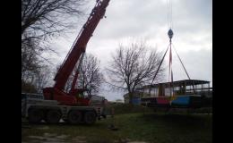 Práce s autojeřáby Olomouc