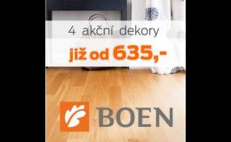 Akční cena na dřevěné podlahy BOEN u velkoobchodu BOMA Parket Praha