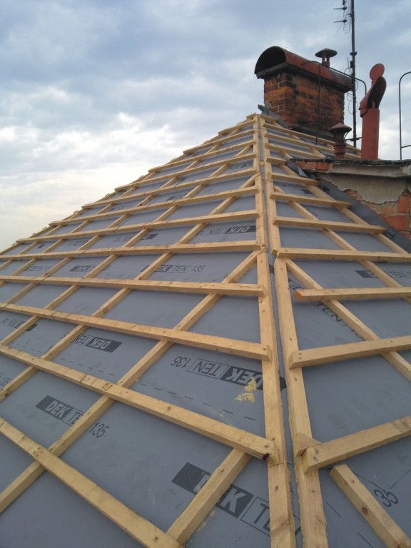 Rekonstrukce, opravy střech