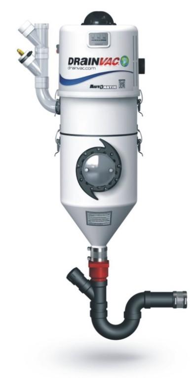 Vysávací jednotka DRAINVAC - pro vysávání suchých i mokrých nečistot a jejich vypuštění do kanalizace