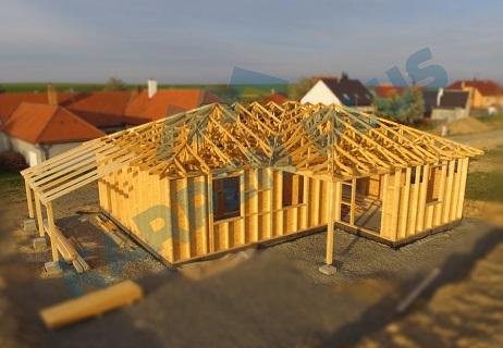 Dodávka, výroba a montáž stěnových panelů na dřevostavby