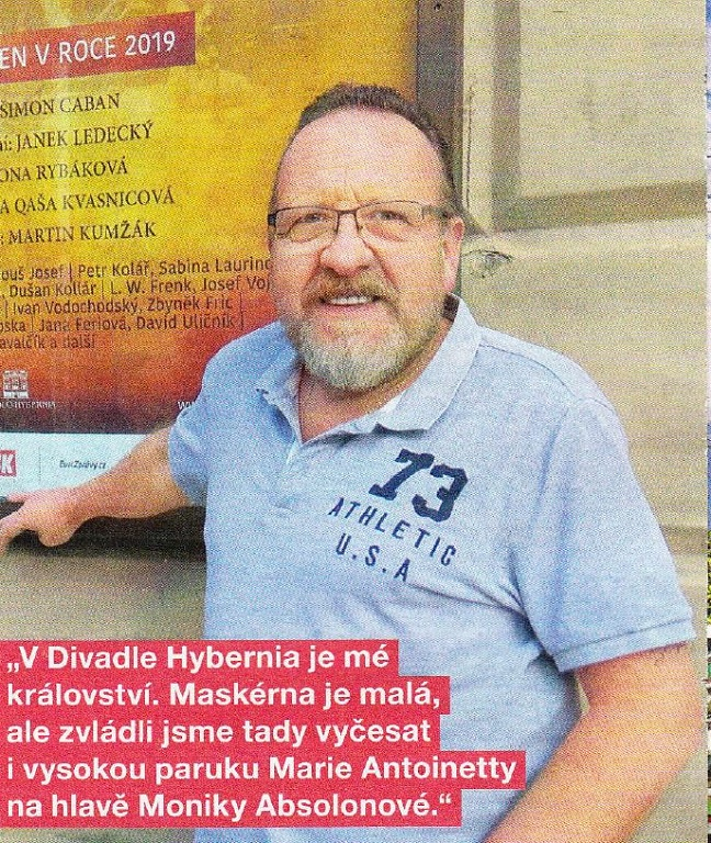Petr Fadrhons - maskér divadla Hybernia