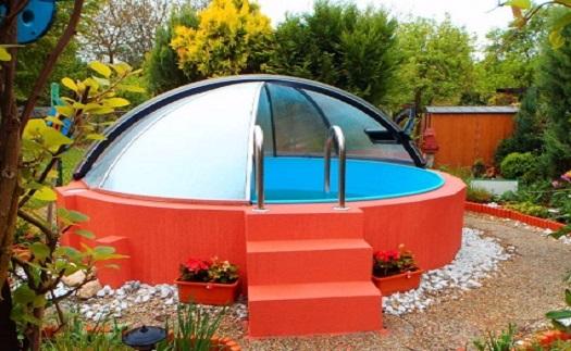 Nadzemní zastřešení kruhových bazénů - prodej
