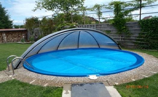 Montáž, výroba na míru - zastřešení pro kulaté bazény