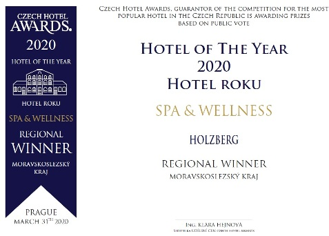 Hotel roku Czech Hotel Awards 2020 - Spa a Wellness