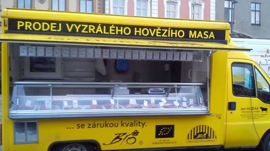 Pojízdná prodejna bio masa