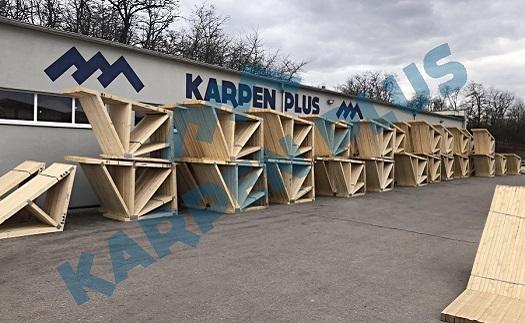 Příhradové ramenáty pro formy mostních konstrukcí