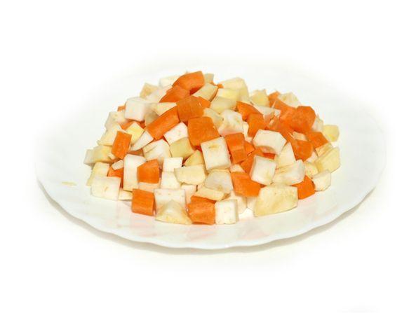 Připravená zelenina pro svíčkovou