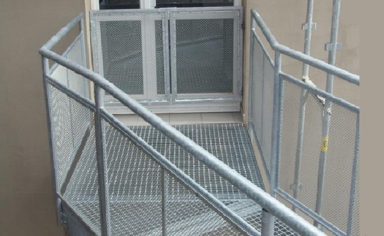 ocelové schodiště a zábradlí Zlínský kraj