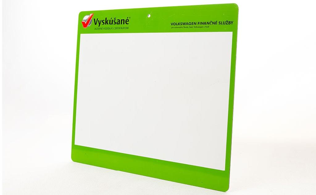 Potisk plastu - popisovatelná tabule