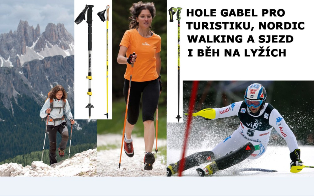 hole GABEL pro turistiku,NORDIC WALKING a lyžování