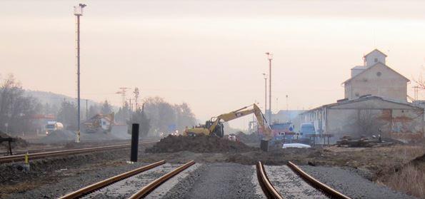 Údržba železnic, tratí, zemní práce