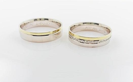 Zakázková výroba snubních prstenů ze žlutého, bílého nebo červeného zlata Brno-venkov