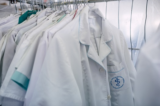 Průmyslové praní oděvů a prádla